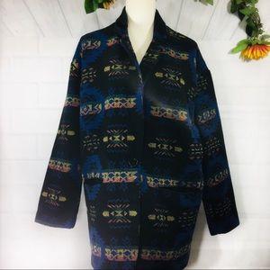 Forever 21 Tribal Design Coat Lg